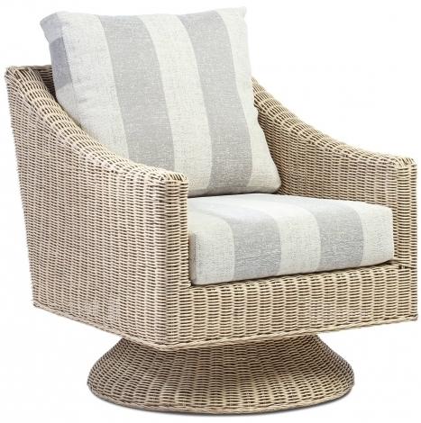 Desser, Dijon, Natural Wash, Cane Swivel Chair