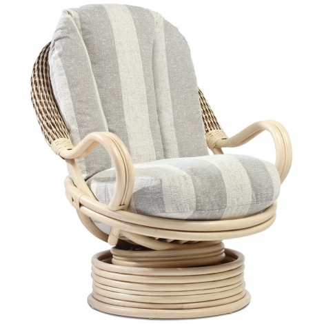Desser, Dijon, Natural Wash, Cane Deluxe Swivel Chair