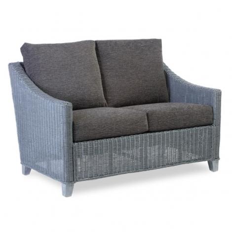 Desser, Dijon, Grey Frame, Cane 2 Seater Sofa
