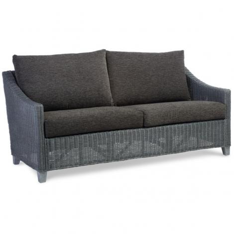 Desser, Dijon, Grey Frame, Cane 3 Seater Sofa
