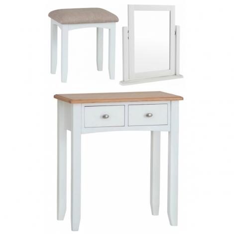 Georgia Oak & White Painted Dressing Table Set