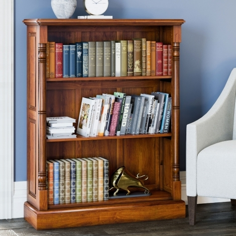 La Reine, Mahogany Low Open Bookcase