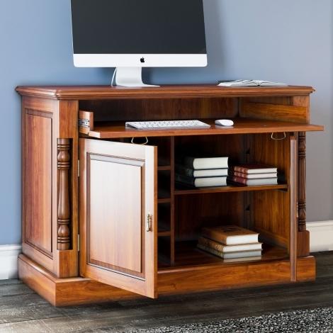 La Reine, Mahogany Hidden Home Office Desk