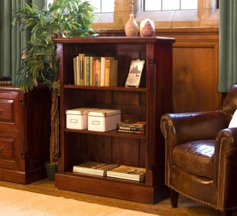 Louis Solid Mahogany Low Open Bookcase