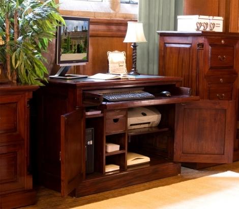 Louis Solid Mahogany Hidden Home Office
