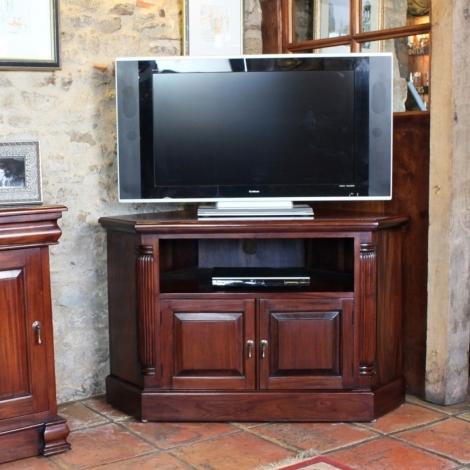 Louis Solid Mahogany Corner TV Unit