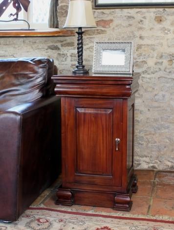 Louis Solid Mahogany Lamp Table / Pot Cupboard