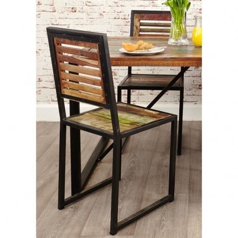 2x Baumhaus Urban Chic Dining Chair (Sold as a Pair)