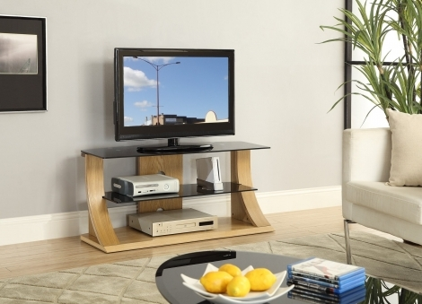 Jual Florence Curve Oak TV Stand 1100mm JF210