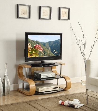 Jual Florence Curve Oak TV Stand 850mm jf203