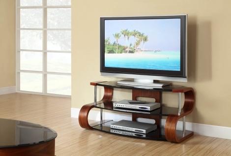 Jual Florence Curve Walnut TV Stand 1100mm jf203