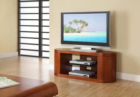 Jual Florence Curve Walnut TV Stand 850mm JF207