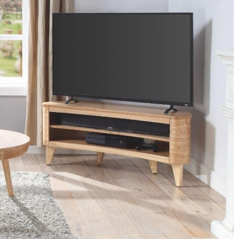 Jual Florence Curve Oak TV Stand JF709
