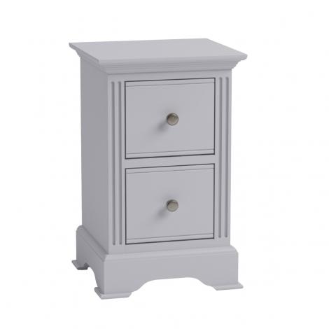 Ashley Soft Grey Painted 2 Drawer Bedside Cabinet