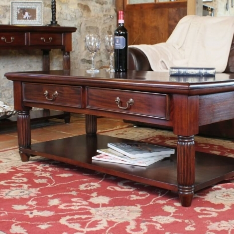 Louis Solid Mahogany Coffee Table
