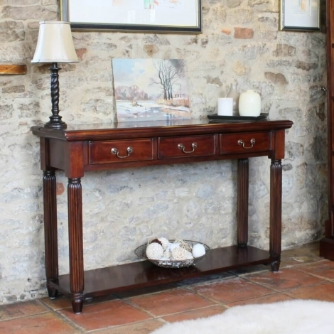 Louis Solid Mahogany Console Table
