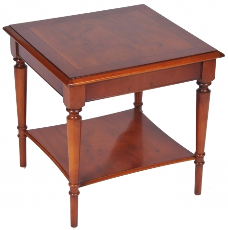 Bradley Antique Reproduction Lamp Table With Shelf