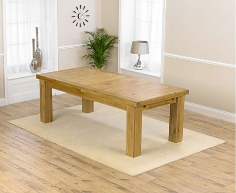 Chunky Solid Oak 230cm - 320cm Extending Dining Table