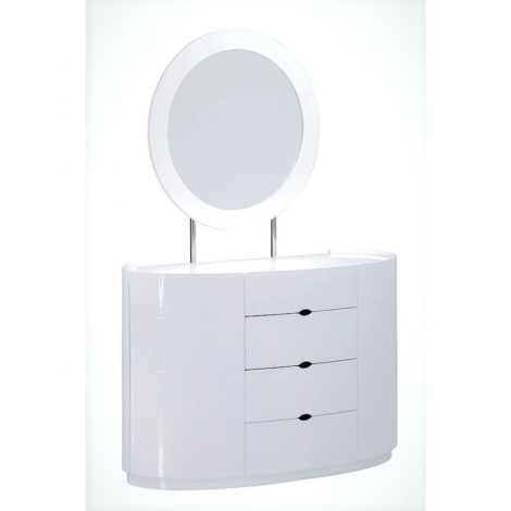 Lorna Gloss Dressing Table In White High Gloss