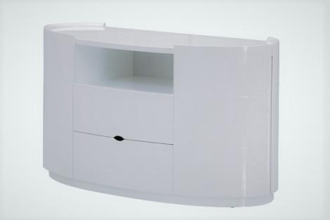 Lorna Gloss TV Cabinet In White High Gloss