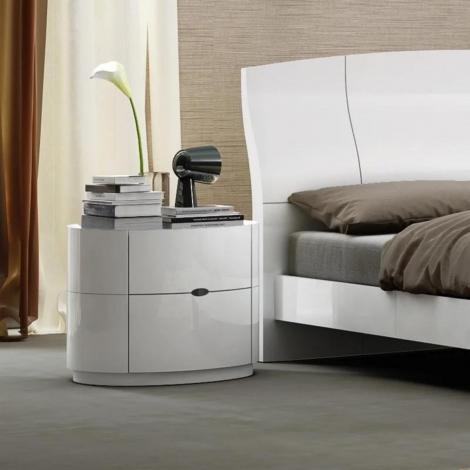 Lorna Gloss Bedside In White High Gloss