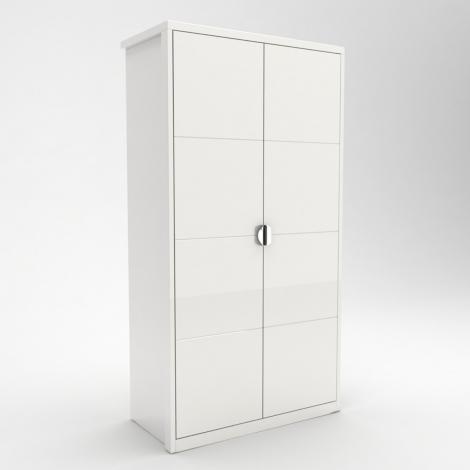 Lorna Gloss 2 Door Robe In White High Gloss
