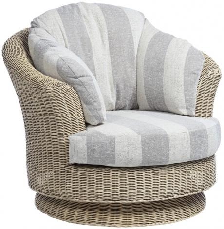 Desser, Dijon, Natural Wash, Cane Lyon Swivel Chair