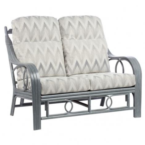 Desser, Madrid, Grey Wash, Cane 2 Seater Sofa