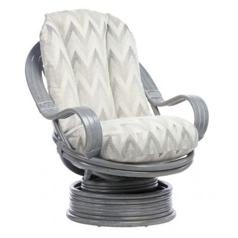 Desser, Madrid, Grey Wash, Cane Laminated Arm Swivel Rocker Chair