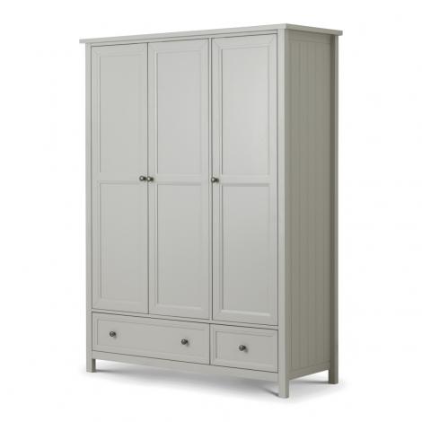 Maine Grey 3 Door Combination Wardrobe