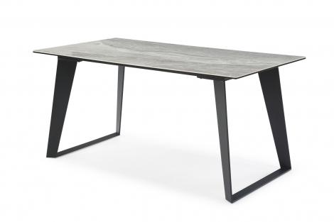Morada Ceramic 180cm Marble Top Dining Table, Grey Metal Legs