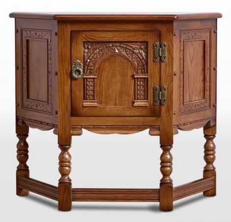 Old Charm Canted Pedestal Cabinet OC1434