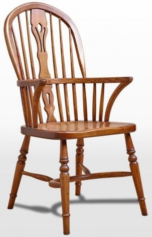 Old Charm Windsor Solid Oak Dining Arm Chair OC2903