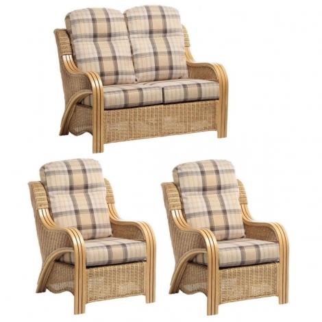 Desser, Opera, Light Oak, Cane 2 Seater Sofa & 2 Chairs