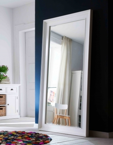 Nova Solo, Halifax Pure White Painted Grand Mirror - 200cm x 100cm