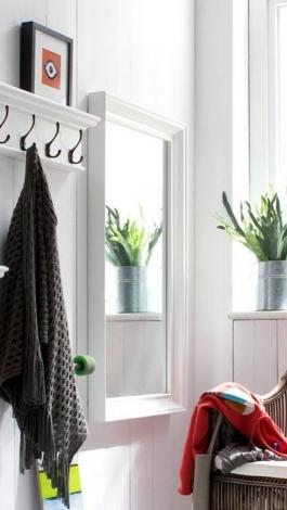 Nova Solo, Halifax Pure White Painted Profile Mirror - 120cm x 70cm