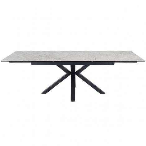 Amari 160-240cm - Light Grey Polished Ceramic Extending Table