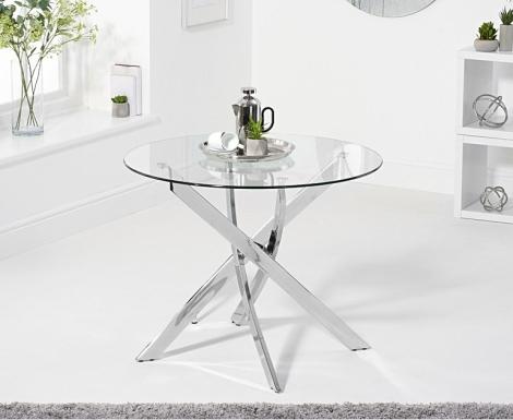 Daytona 95cm Round Glass Dining Table