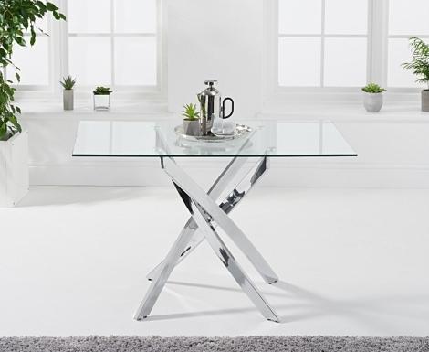 Daytona 120cm Glass Dining Table