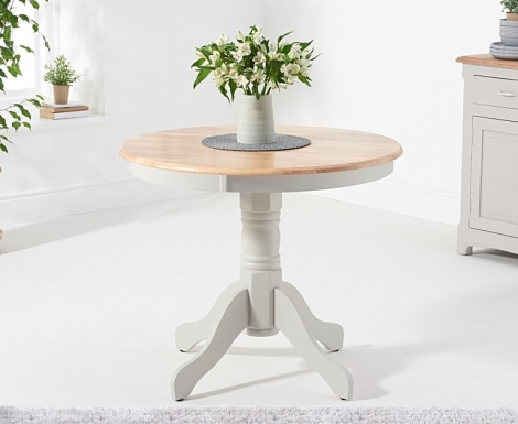 Elstree 90cm Oak and Grey Painted Dining Table