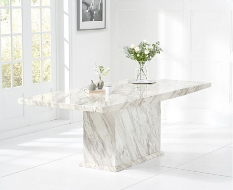 Caceres 220cm Marble Effect Dining Table