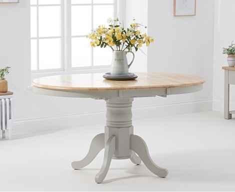 Elstree 100cm Extending Oak and Grey Painted Dining Table