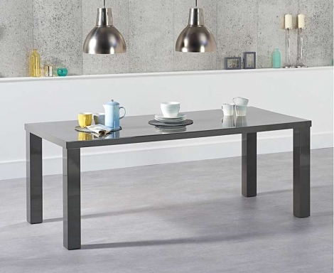 Ava 200cm Dark Grey High Gloss Dining Table