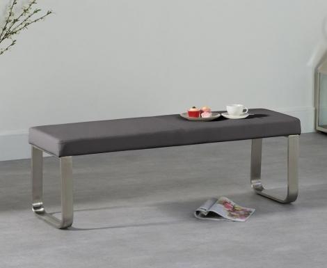 Ava Medium Grey Bench 142cm
