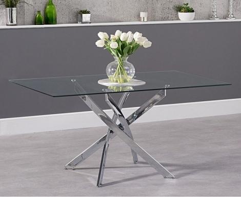 Daytona Rectangular 160cm Glass Dining Table