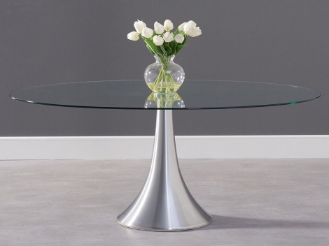 Pria Glass Dining Table - 180cm Oval