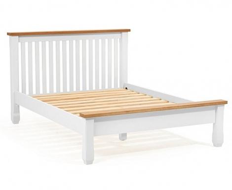 Sandringham Oak And White Painted Shaker Bed