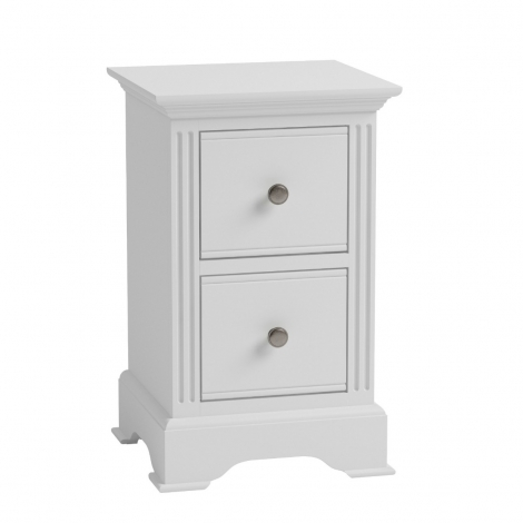 Ashley White Painted 2 Drawer Bedside Cabinet