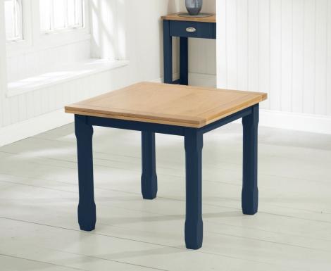 Sandringham Oak and Blue Painted Dining Table - 90cm Flip Top