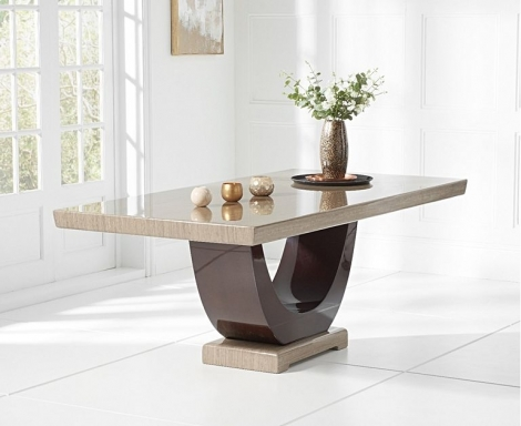 Rivilino 200cm Brown Marble Dining Table